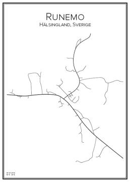 Stadskarta över Runemo