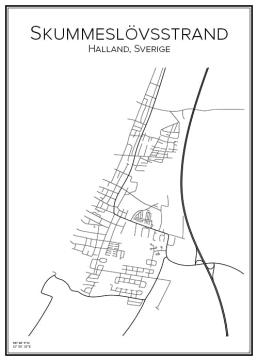Stadskarta över Skummeslövsstrand