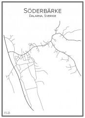 Stadskarta över Söderbärke