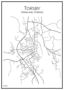 Stadskarta över Torsby