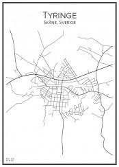 Stadskarta över Tyringe