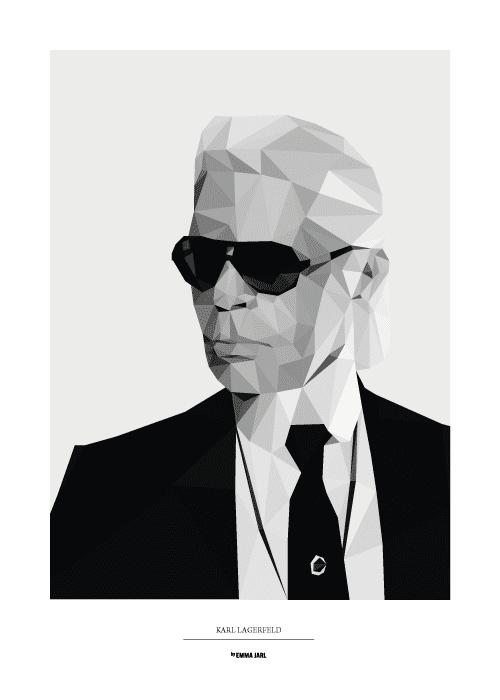 Stadskarta med Karl Lagerfeld