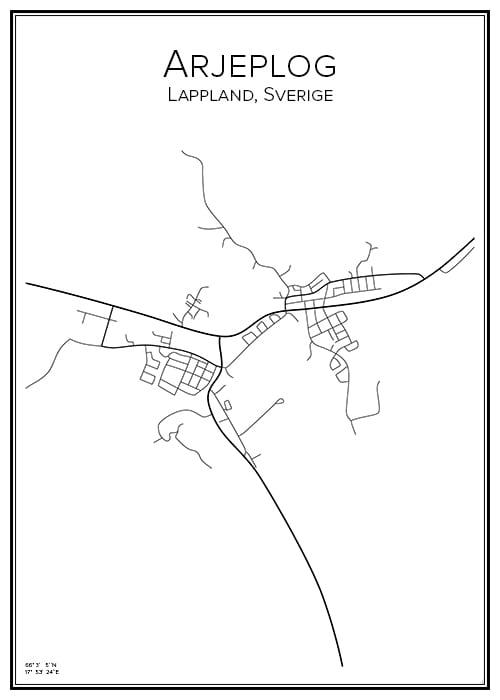 Stadskarta över Arjeplog