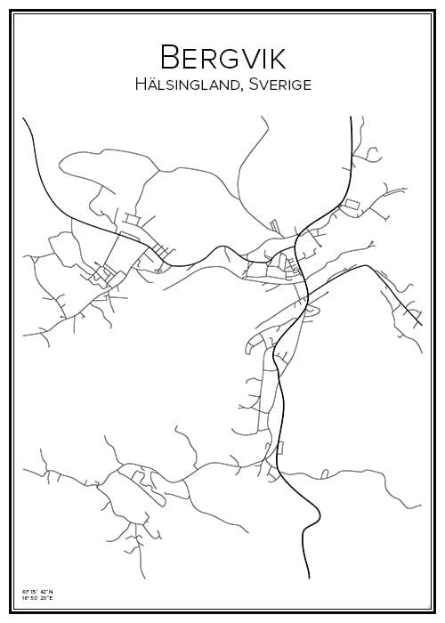 Stadskarta över Bergvik