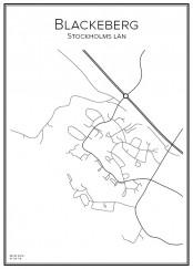 Stadskarta över Blackeberg