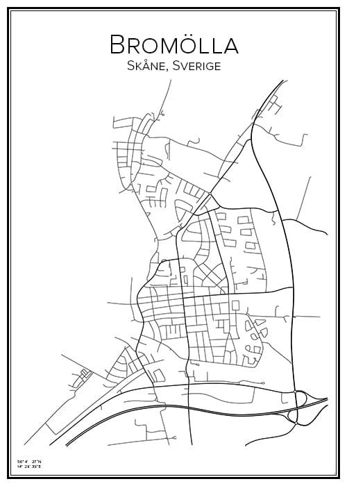 Stadskarta över Bromölla