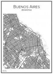 Stadskarta över Buenos Aires