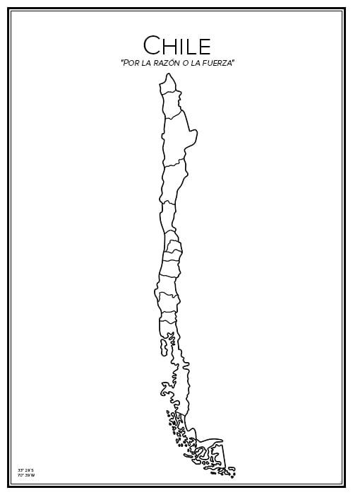 Stadskarta över Chile