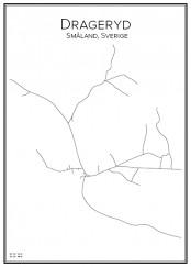 Stadskarta över Drageryd