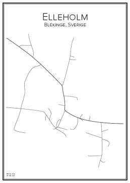 Stadskarta över Elleholm