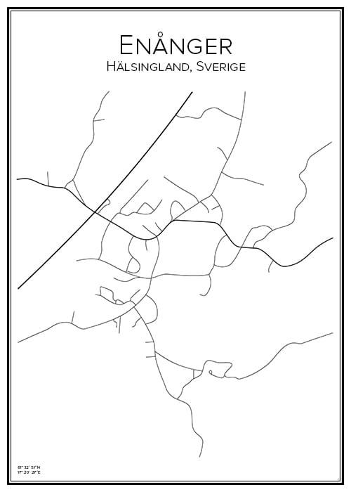 Stadskarta över Enånger