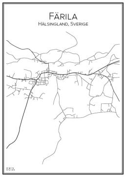 Stadskarta över Färila