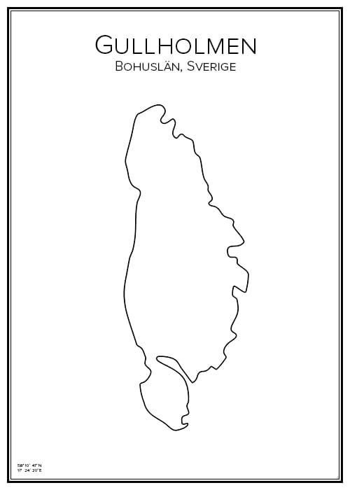 Stadskarta över Gullholmen