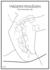 Stadskarta över Hägerstensåsen
