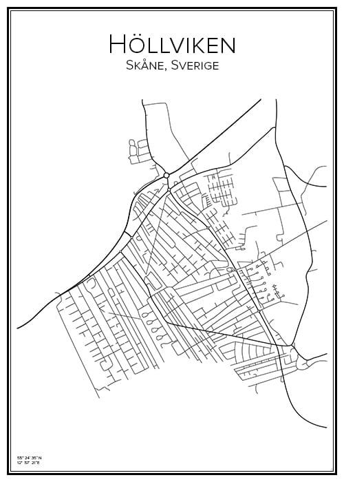 Stadskarta över Höllviken