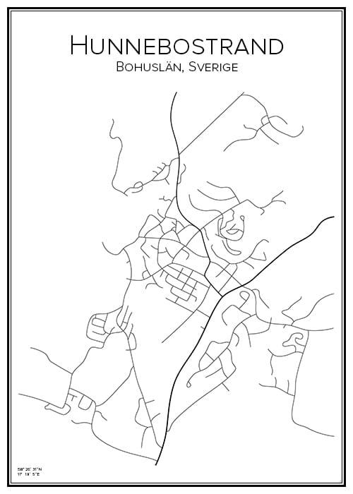 Stadskarta över Hunnebostrand