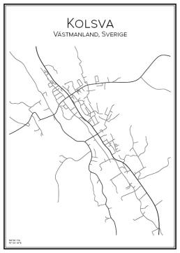 Stadskarta över Kolsva