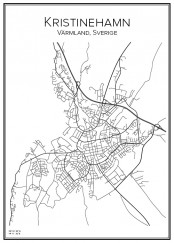 Stadskarta över Kristinehamn
