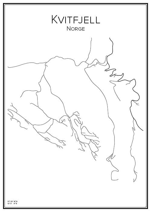 Stadskarta över Kvitfjell