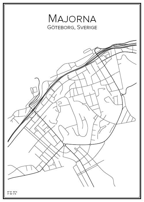 Stadskarta över Majorna