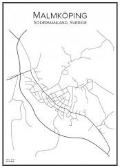 Stadskarta över Malmköping
