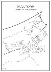 Stadskarta över Mantorp