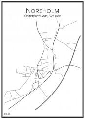 Stadskarta över Norsholm