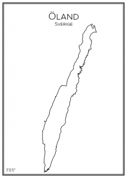Stadskarta över Öland