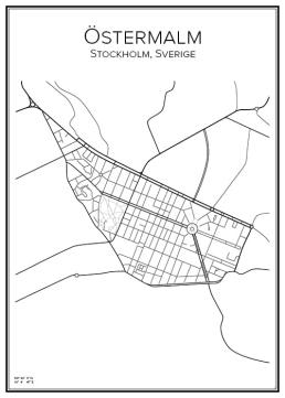 Stadskarta över Östermalm