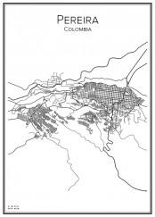 Stadskarta över Pereira