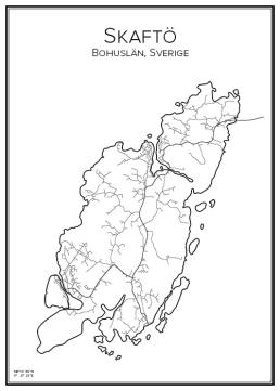 Stadskarta över Skaftö