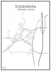 Stadskarta över Söderåkra