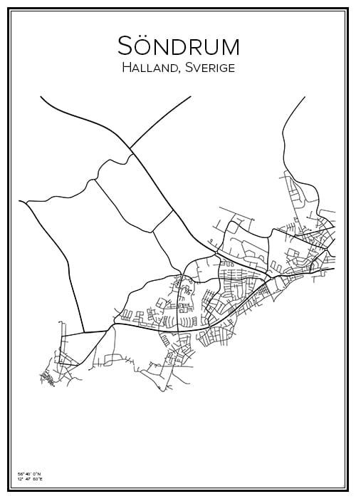 Stadskarta över Söndrum