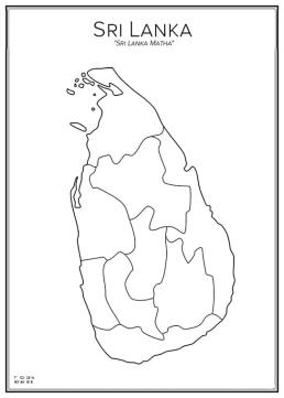 Stadskarta över Sri Lanka