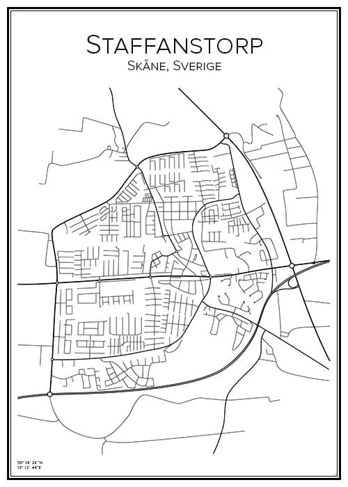 Stadskarta över Staffanstorp