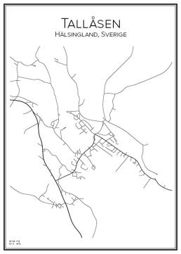 Stadskarta över Tallåsen