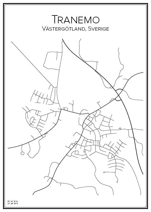 Stadskarta över Tranemo