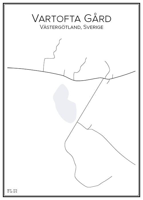 Stadskarta över Vartofta Gård