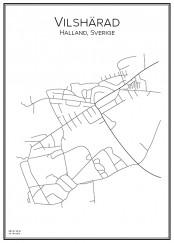 Stadskarta över Vilshärad