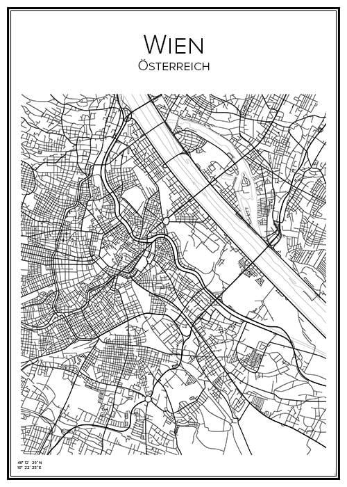 Stadskarta över Wien