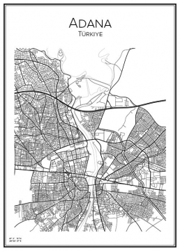Stadskarta över Adana