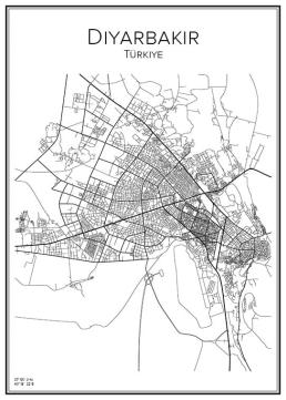Stadskarta över Diyarbakir