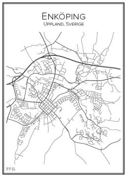 Stadskarta över Enköping