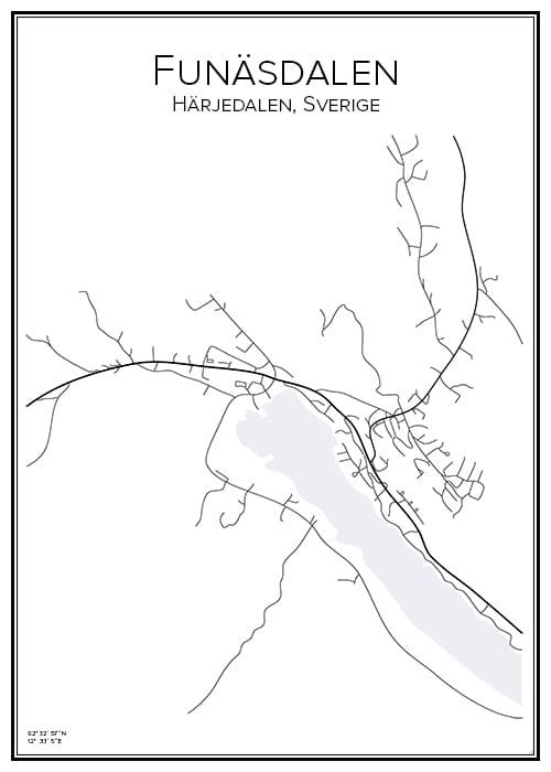 Stadskarta över Funäsdalen