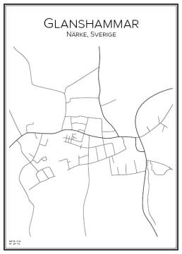 Stadskarta över Glanshammar