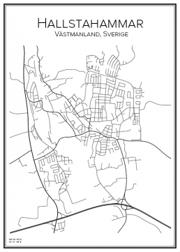 Stadskarta över Hallstahammar