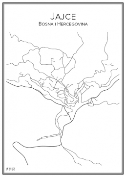 Stadskarta över Jajce