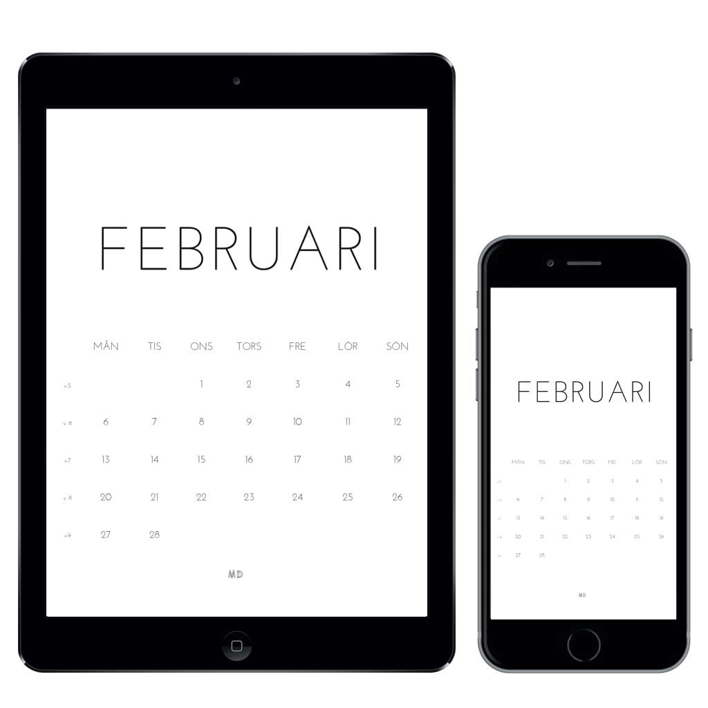 Gratiskalender för februari 2017