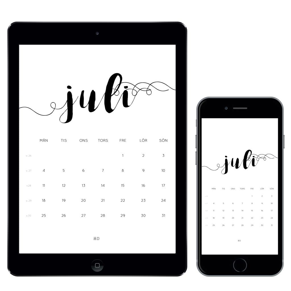 Gratiskalender för juli 2016