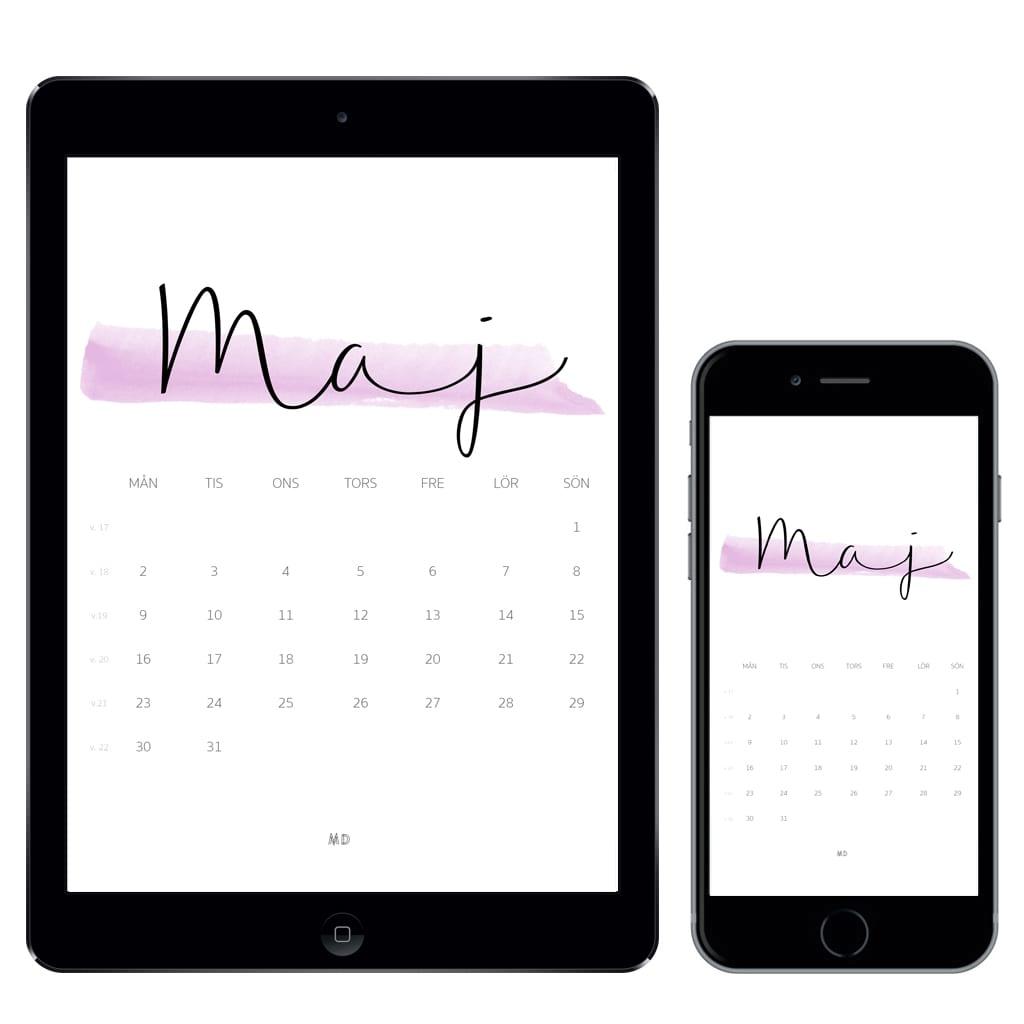 Kalender för maj 2016